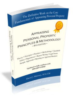 Appraising Personal Property: Principles & Methodology - 8th ed.